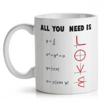 Caneca All You Need is Love - Math Style - Yaay