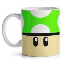 Caneca Cogumelo Verde Super Mario Bross - Verde - Único - Gorila Clube