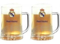 Caneca de Chopp Vidro 500ml Globimport - Real Madrid Maxim Estádio