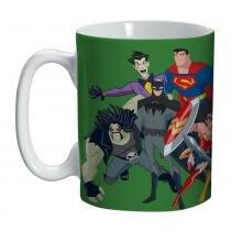 Caneca de Porcelana - 300 Ml - DC Comics - Liga da Justiça - Verde - Urban -