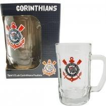 Caneca De Vidro Do Corinthians Para Chopp Cerveja 340 Ml - Allmix