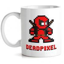 Caneca DeadPool Pixel - Vermelho - Único - Gorila Clube