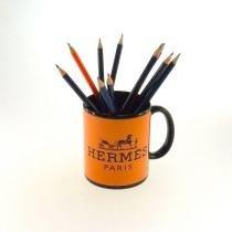7a2801371b834 Caneca Decorativa Polímero Hermes Paris Cor Laraja 10x8x8cm - Maisaz
