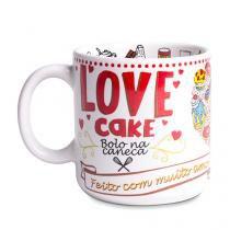 Caneca Love Cake - Branco - Único - Gorila Clube
