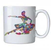 Caneca personalizada porcelana bailarina colors - Criatics