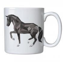 Caneca personalizada porcelana cavalo poligono - Criatics