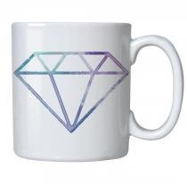 Caneca personalizada porcelana diamante degrade - Criatics