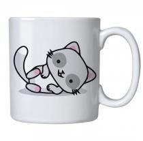 Caneca personalizada porcelana gatinho deitado - Criatics