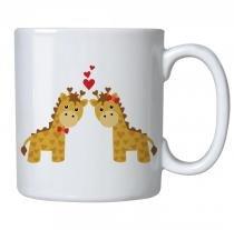 Caneca personalizada porcelana girafinhas apaixonadas - Criatics