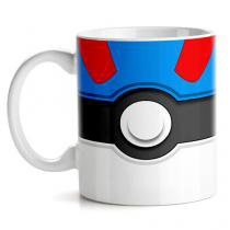 Caneca Pokemon Great Pokebola - Azul - Único - Gorila Clube