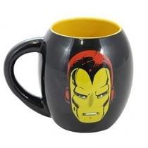 Caneca Porcelana Oval Marvel Iron Man 530ml - Brone