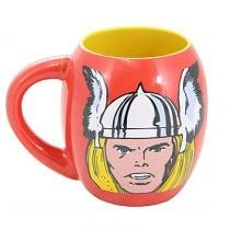 Caneca Porcelana Oval Marvel Thor 530ml - Brone