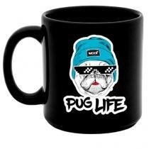 Caneca Preta Cachorro Pug Life - Preto - Único - Gorila Clube