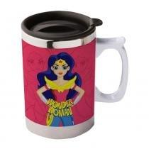 Caneca Térmica - 400 Ml - DC Comics - Super Hero Girls - Wonder Woman - Urban -