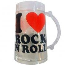 Caneco De Chopp Com Gel Térmico I Love Rock And Roll - Versare anos dourados