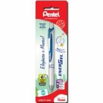 Caneta Gel 0,7mm Energel Corpo Perola Azul Sm/Bl77pw-C Pentel Blister - 953002