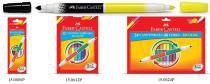 Caneta Hidrográfica 24 Cores Bicolor Faber-castell - Faber castell