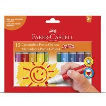 Caneta hidrográfica jumbo - 150212GZF - com 12 cores - Faber-Castell -