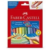 Caneta hidrográfica ponta Vai e Vem - 150112VVZF  - com 12 cores - Faber-Castell -