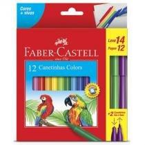 Caneta hidrográfica prestocolor - 150112+2VVZF - com 12 cores - Faber-Castell -