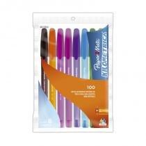 Caneta Kilométrica Média Colorida Sortidas Com 8 Unidades - Comprenet