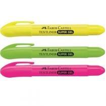 Caneta Marca Texto Gel Amarelo Cx.C/06 Faber-Castell -