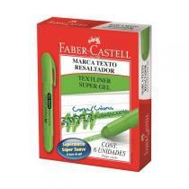Caneta Marca Texto Gel Verde Cx.C/06 Faber-Castell -