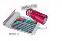 Caneta Staedtler Triplus Fineliner 20 cores com Estojo Flexível - Staedlter
