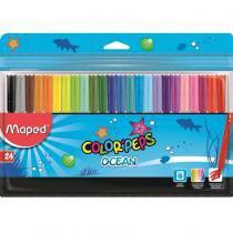 Canetas Colors Hidrocor com 24 unidades Maped ColorPeps -