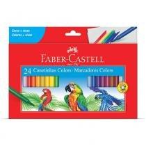 Canetas Colors Hidrografica com 24 unidades Faber Castell -
