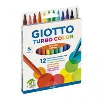 Canetinha Hidrográfica 12 Cores GIOTTO - Turbo Color - Giotto