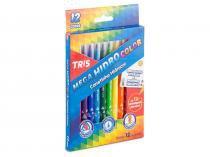 Canetinha Mega Hidro Color 12 Cores Tris - Tris