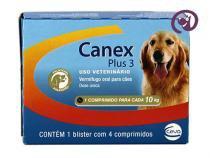 Canex Plus 3 Cães 10kg 4 comp Ceva - Vermífugo cães -