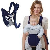 Canguru Carrega Bebê Ergonômico Passeio Importway 3 em 1 Posições Baby Até 15 Kg Azul Marinho -