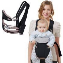 Canguru Carrega Bebê Ergonômico Passeio Importway 3 em 1 Posições Baby Até 15 Kg Preto -