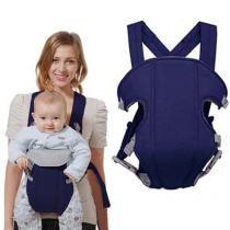 Canguru Carregador de Bebe Ergonomico Criança Baby Bag Passeio Azul Escuro (MC40524) - Mc