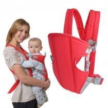 Canguru Carregador de Bebe Ergonomico Criança Baby Bag Passeio Vermelho ( MC40524) - Mc