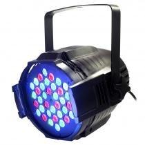Canhão de iluminação Par 64 com 36 LEDs - RGB 3w - Lorben