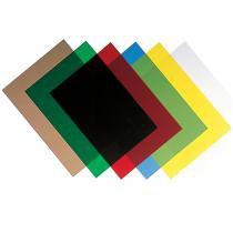 Capa A4 de PVC Verde Fellowes para encadernação - 200 microns- 100 pç -