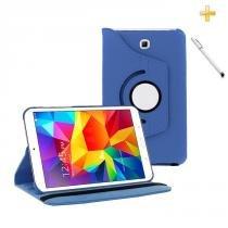 Capa Case Galaxy Tab A - 9.7 P550 / P555 Giratória 360 / Caneta Touch (Azul Escuro) - BD Net Imports