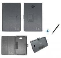Capa Case Galaxy Tab A Note - 10.1 P580 / P585 Carteira / Caneta Touch (Preto) - Skin t18