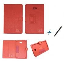 Capa Case Galaxy Tab A Note - 10.1 T580 / T585 Carteira / Caneta Touch (Vermelho) - BD Net Imports