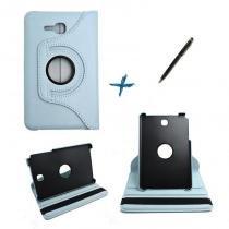 Capa Case Galaxy Tab E - 7 T113/115  Giratória 360º / Caneta Touch (Azul Claro) - BD Net Imports