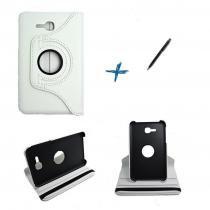 Capa Case Galaxy Tab E - 7 T113/115  Giratória 360º / Caneta Touch (Branco) - Skin t18