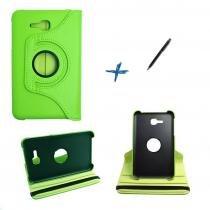 Capa Case Galaxy Tab E - 7 T113/115  Giratória 360º / Caneta Touch (Verde) - BD Net Imports