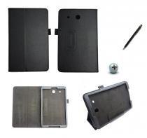 Capa Case Galaxy Tab E - 9.6 T560/561 Carteira / Caneta Touch (Preto) - BD Net Imports