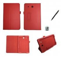 Capa Case Galaxy Tab E - 9.6 T560/561 Carteira / Caneta Touch (Vermelho) - BD Net Imports