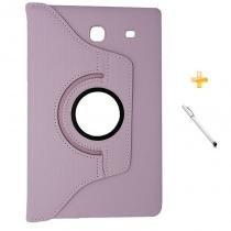 Capa Case Galaxy Tab E - 9.6 T560/561 Giratória 360 / Caneta Touch (Rosa) - BD Net Imports