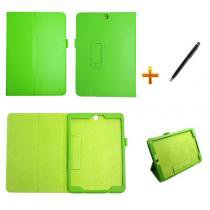Capa Case Galaxy Tab S2 - 9.7 T810/T815 Carteira / Caneta Touch (Verde) - BD Net Imports