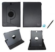 Capa Case Galaxy Tab S3 - T820/T825 Giratória / Caneta Touch (Preto) - Skin t18